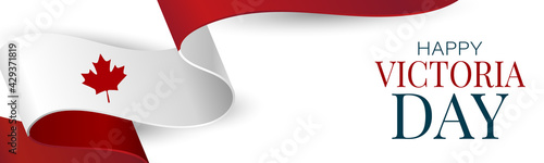 Fotografie, Obraz Victoria Day Canada Holiday banner background