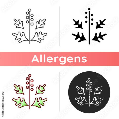 Canvas Print Ragweed pollen icon