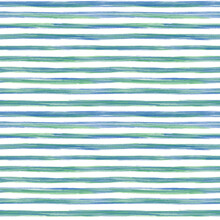 Hand Drawn Green Blue Stripes Seamless Pattern. Abstract Background.