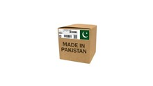 3D Rendered Made In Pakistan Box Animation 4K With Green Screen And White.