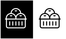 Fresh Market  Icons Vector Design