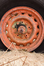 Old Still Working Tire With Rust