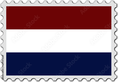 Fototapeta stamp flag of netherlands vector - editable flags and maps