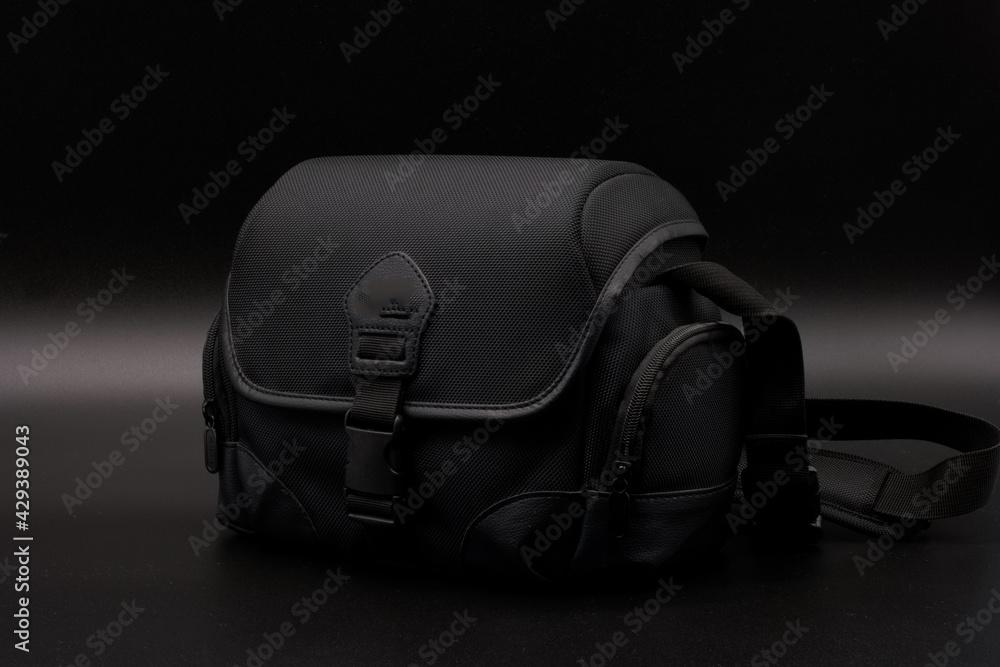 Fototapeta torba fotografia osprzęt czarna materiałowa
