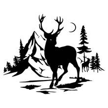 Deer - Wildlife Stencils - Deer Silhouette, Wildlife Clipart Isolated On White