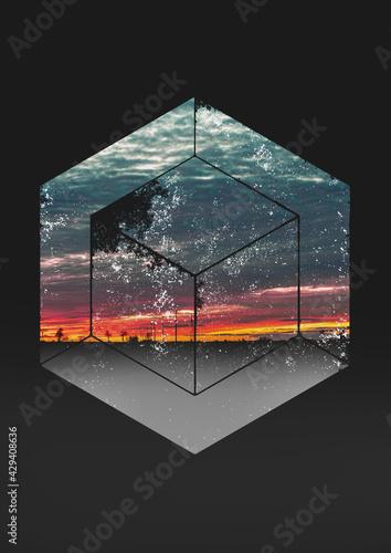 Pocztówka- zachód słońca