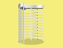 Full Height Turnstile To Block The Passage Without Permission Or Identification