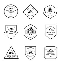 Mountain Adventure Badges Collection