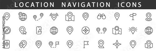 Obraz na plátně Location icons set