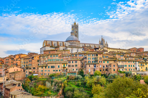 Fototapeta premium View of the historic center of Siena, Tuscany, Italy