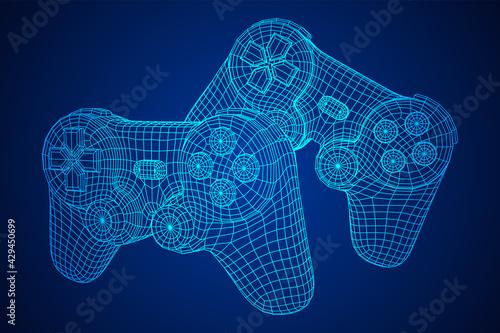 Fototapeta Game controller or gamepad for videogames