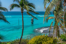 Garrafon Reef Park Beach Club On The Beautiful Island Isla Mujeres, Mexico. Water Park.