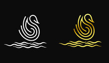 Duck Logo For Company, Swan Logo Vector For Company