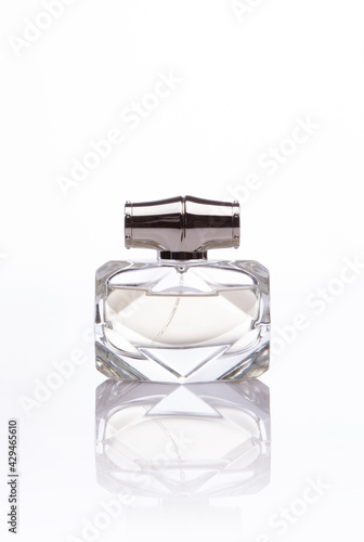 glass bottle of perfume isolated - fototapety na wymiar
