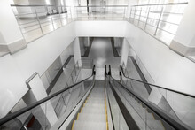 Escalator In A New Building