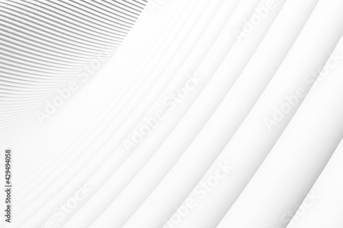 Carta da parati Concentric abstract architecture futuristic circular background