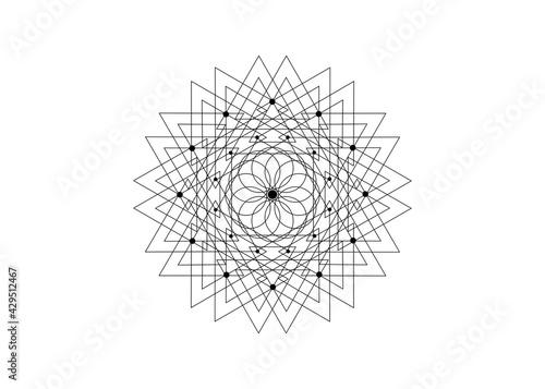 Fotografia Sacred Geometry Seed of life