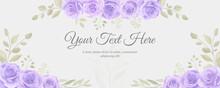 Hand Drawn Purple Floral Background Design