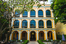 October 10, 2019: Sir Robert Ho Tung Library At Macau, China. The Building Was Constructed Before 1894 And Purchased By Sir Robert Ho Tung In 1918. It Was Opened To Public As A Library In 1958.
