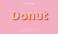 Pink Donut Text Effect