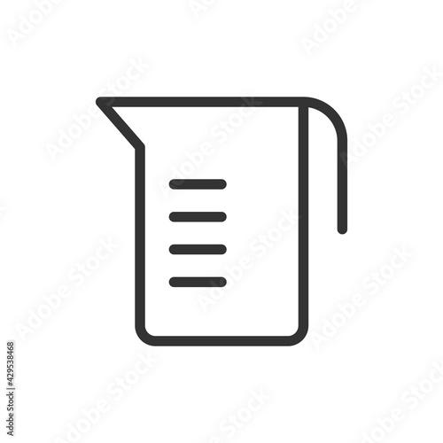 Fotografie, Obraz Simple measuring cup line icon.