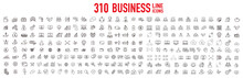 Business Contacts Icons Set Vector