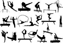 Gymnastics Silhouettes Collection - Vector