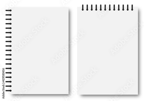 Obraz Blank sheets of paper in the style of a shadow notepad layout. Vector graphics - fototapety do salonu