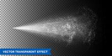 Water Spray Mist Background. Vector Water Jet Atomizer