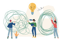 Tangled, Brainstorming, Beginning And End To Thought, Abstract Metaphor, Concept Of Solving Business Problems