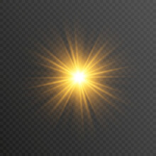 Special Design Of Starlight, Sunlight Or Light Effect. Star, Sun Or Spotlight Beams. Light PNG. Decor Element. Isolated Transparent Background.