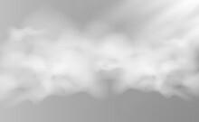 Vector Illustration Of Fog Or Smoke On A Transparent Background.