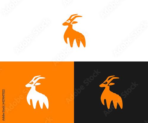 deer logo design - fototapety na wymiar