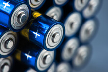 Alkaline Battery Size AAA With Selective Focus Close-up