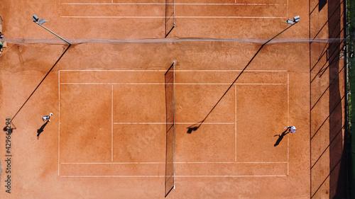 Fotografie, Obraz tennis giuocare tennis campo tennis terra rossa
