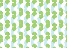 Vector Texture Background, Seamless Pattern. Hand Drawn, Green, Blue, White Colors.