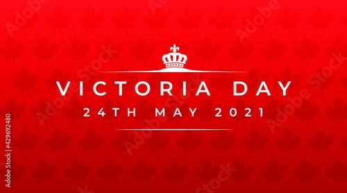 Fotografie, Obraz victoria day 24th may 2021 modern creative banner, design concept, social media