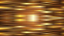 金色に輝くメタルな光の明るいラインの背景イラスト