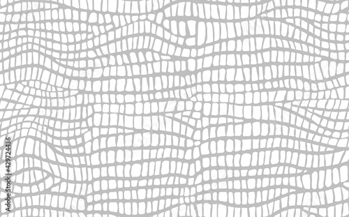Abstract modern crocodile leather seamless pattern Wallpaper Mural