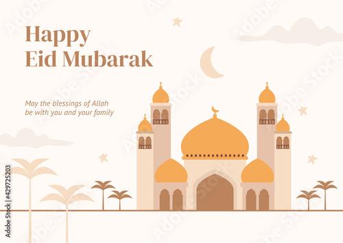 Fotografia Eid Mubarak to all Muslims