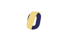 Letter O Logo Icon Color Gold Design Template