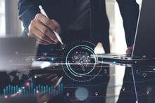 Business Intelligence (Bi), Artficial Intelligence (Ai), Digital Marketing, Business Strategy And Technology Concept