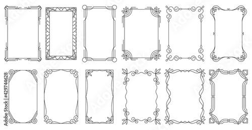 Fototapeta Decorative frames