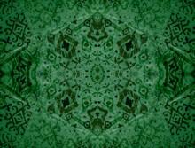 Mint Watercolor Silk. Mint Ikat Textures. Lime