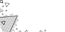 Abstract Black White Pattern Triangles Illustration On A White Background. Modern Vector Template Background EPS 10