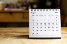 Calendar - August 2021