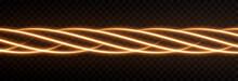Vector Glowing Light Lines. Neon Light, Light Effect Png. Golden Line Light Png, Magical Glow, Shine.