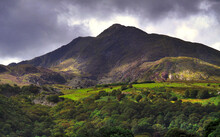 Dramatic Mountain Landscape Image In Snowdonia National Park In WAles.
