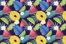 Hand Drawn Summer Tropical Pattern_5