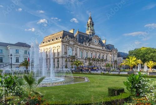 Fotografering Tours, France. City Hall at Jean Jaures Square